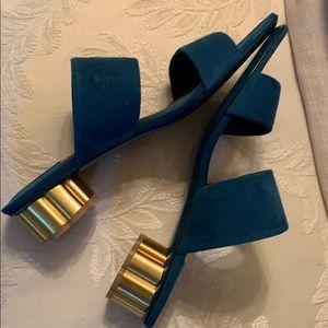 Salvatore Ferragamo Shoes - Salvatore Ferragamo Suede slides new